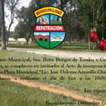 Repatriación inaugura su hermosa y natural «Plaza Municipal»